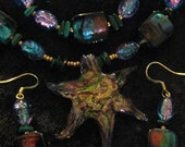 "Brilliant Glass ""Star Pendant"" Set - Neclace, bracelet, earrings - FREE SHIPPING"