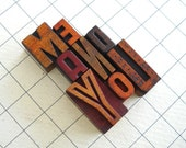 FREE SHIPPING - Me and You - 8 Vintage Letterpress Wooden Letters Collection LP51