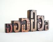 Vintage Letterpress 6 Wooden Alphabet -G Collection -VM29