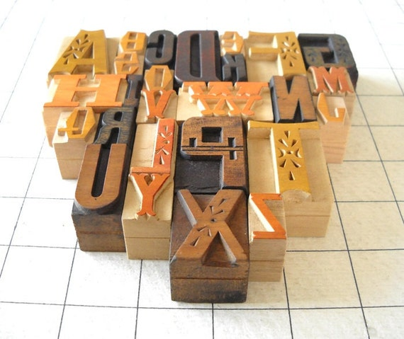 A to Z, 26 Letterpress Wooden Alphabet Collection - Fusion Series - YZ01