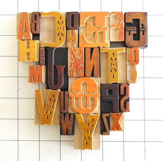 A to Z, 26 Letterpress Wooden Alphabet Collection - Fusion Series - YZ21