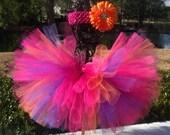 Tutu Newborn or Baby Flower Headband - Newborn to 2T - Kenzo, Pink, Purple, Orange, Weddings, Showers, 1st Birthday