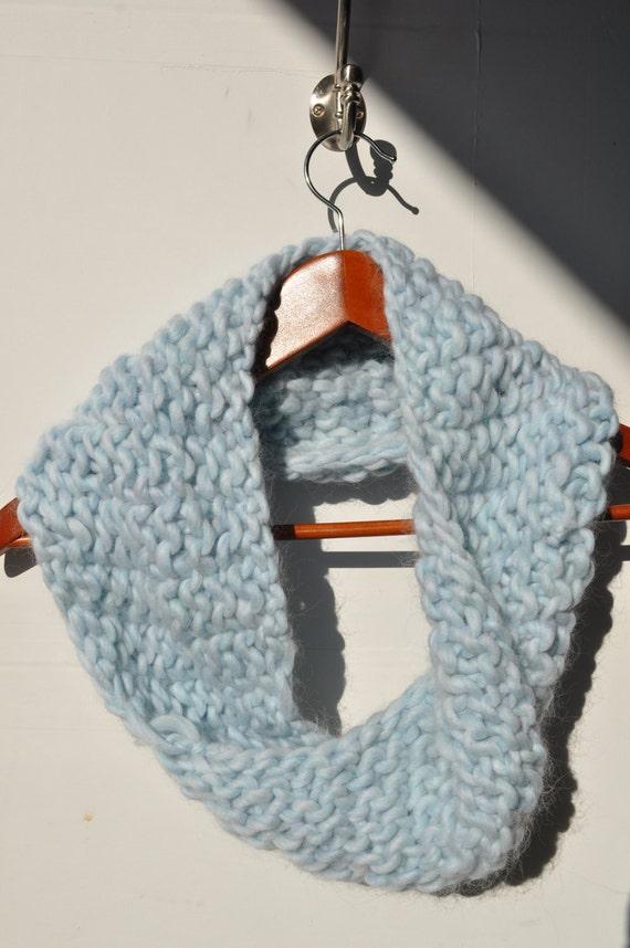 Super cute, Ice blue soft wool cowl