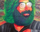 Psychadelic, 16x20 one of a kind Jerry Garcia oil painting