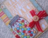 SALE Retro vintage inspired candy Happy Birthday handmade card