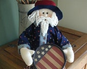 "Uncle Sam Doll - U. S. Patriot - 20"" long"