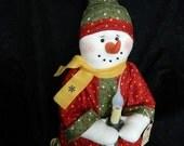 """Snowman Doll - Twinkles - 21"""" Tall"""