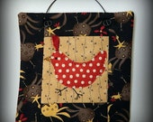 Chicken Mini Quilt - Handmade Original Design