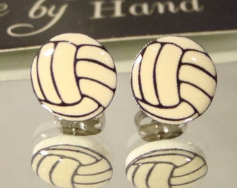 Cute Volleyball Stud Earrings - surgical steel