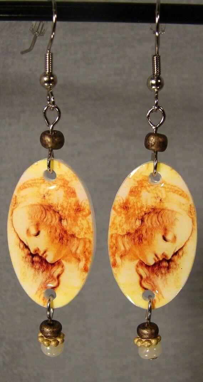 Leonardo DaVinci Painting Earrings