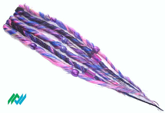 Clip-on accent dreads in blonde black pink blue scene queen kawaii