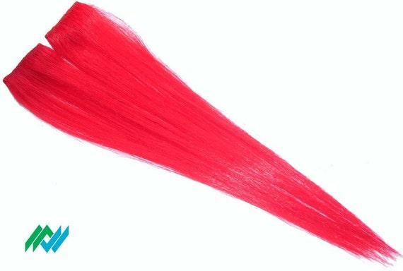 Bright Rainbow Red Hair Hi-lite Clip Extensions