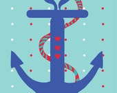 Love Anchor Postcard (mix and match set of 8)