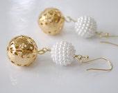 Swirls of Pearls Earrings