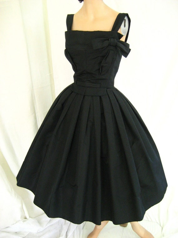 ON HOLD 1950&-39-s Vintage Christian Dior dress Paris by tovasvintage