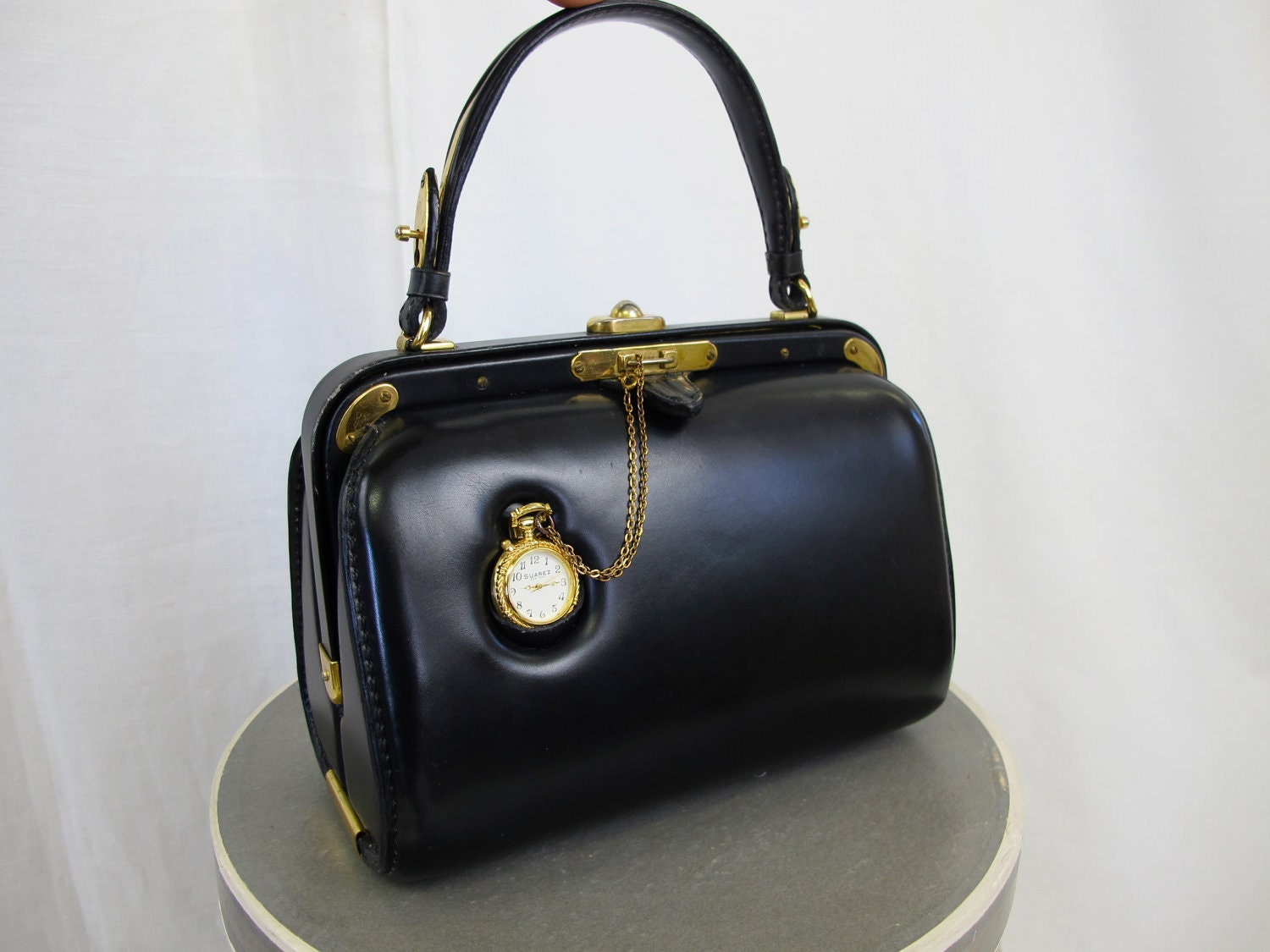 Oh Hold 1950 S Vintage Clock Handbag By By Tovasvintage