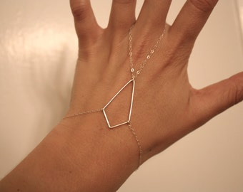 sterling silver diamond shape hand piece