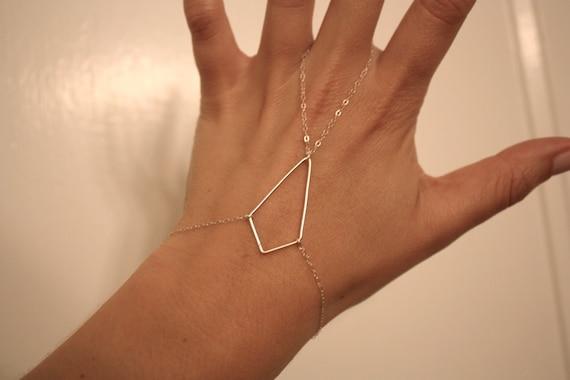 sterling silver diamond shape hand piece