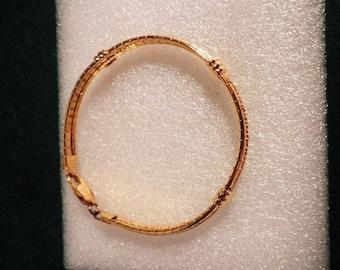 Italian Itaor Rigid  link Gold on Sterling Silver Bracelet