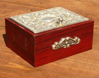 Silver Rosewood Trinket Box