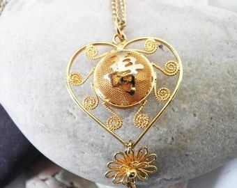 Chinese Love Heart Necklace
