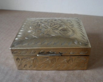 Brass and Wood Trinket Box