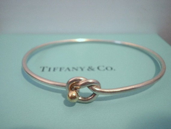 Tiffany And Co Love Knot Sterling Bracelet By Zoesgems On Etsy