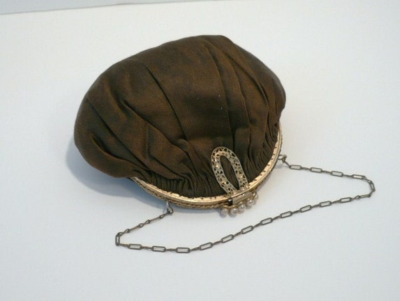 Vintage Ladies Pearl Clutch Purse Bag