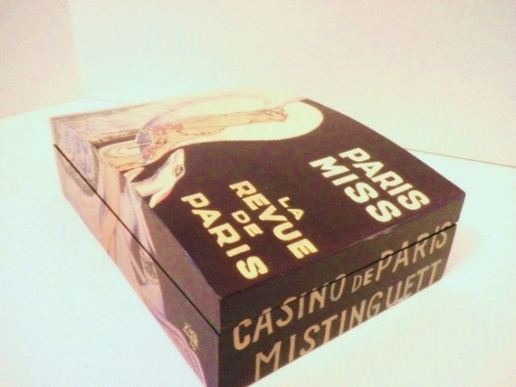 Lacquered  Miss Paris French Advertising Jewerly Box