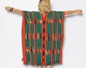 Vintage Woven Ethnic Poncho