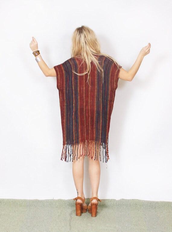 Vintage BOHO, Fringed Wrap Shawl  Dress