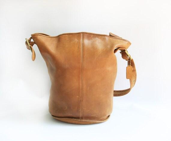 Vintage Authentic Coach Tan XL HOBO Feed SACK Bag