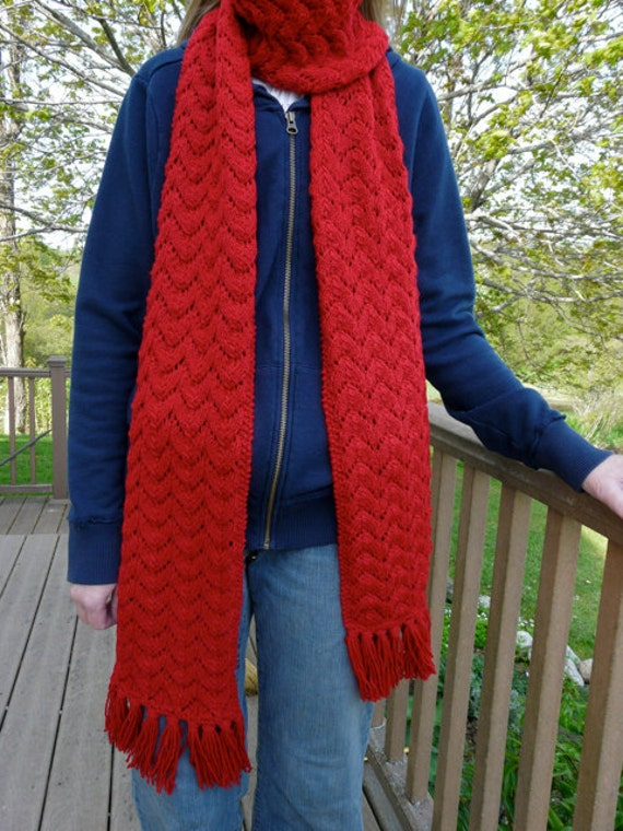 Amy Ponds Long Red Scarf - Sale Price