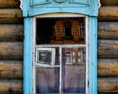 siberian blue window // original travel photography // 8x12 home wall decoration - kanpai