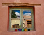 colorful vases original photography // 8x12 earth color pink adobe argentina home wal decoration