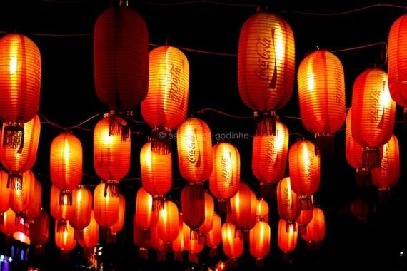 chinese paper lanterns original photograph // 8x12