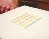 Happy Birthday - letterpress card