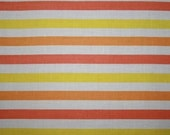 vintage fabric - watermelon, orange and lemon stripes - fat quarter