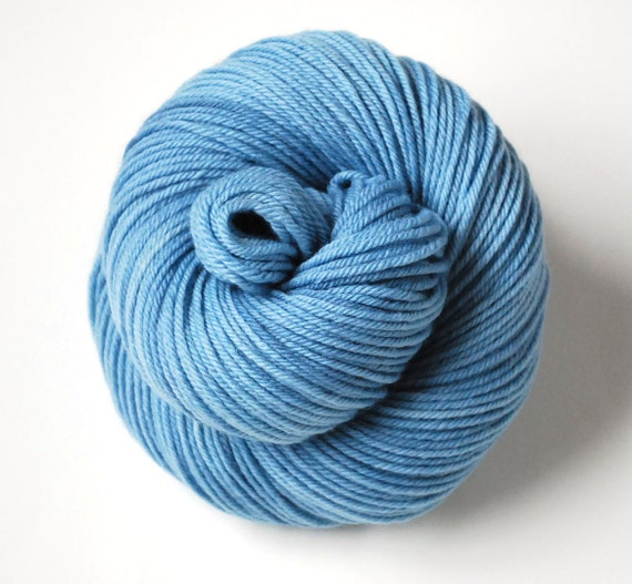 Naturally Dyed Organic Merino Worsted Weight Yarn in River Water