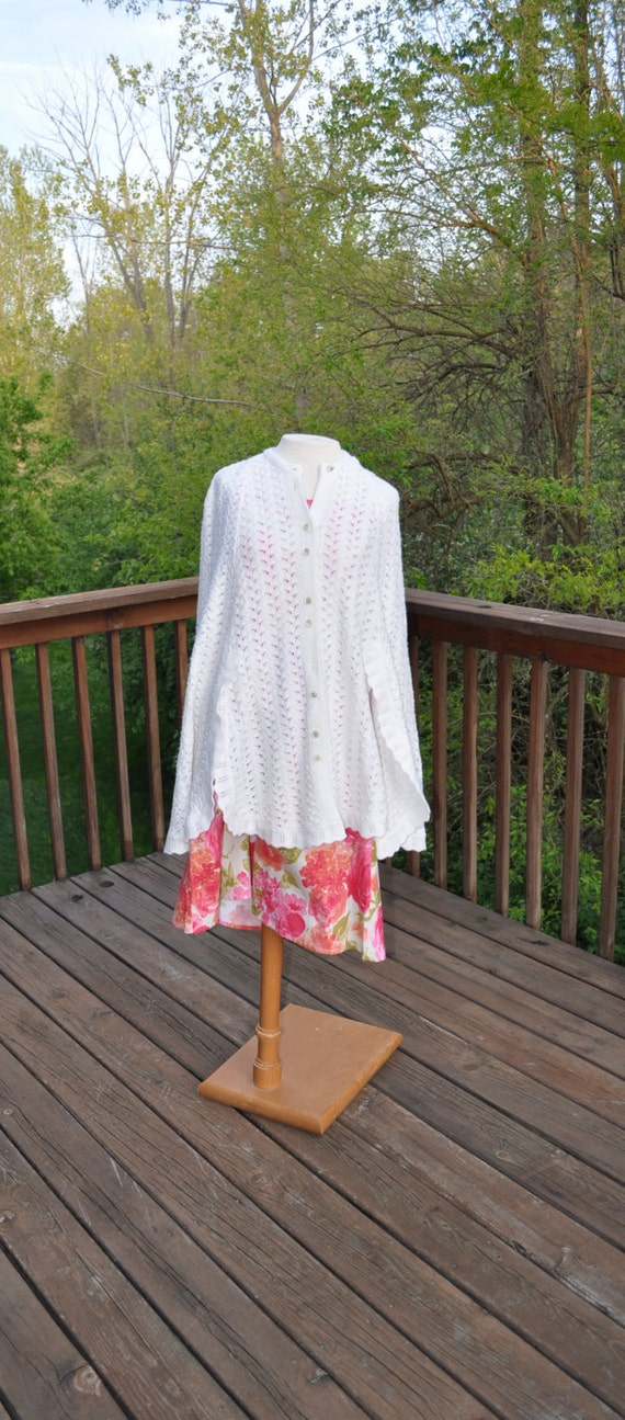 Vintage 1970s Sweater Cape Shawl Knitted Wrap Poncho