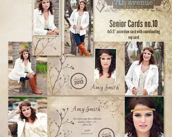 Senior CARD templates for photographers vol.10