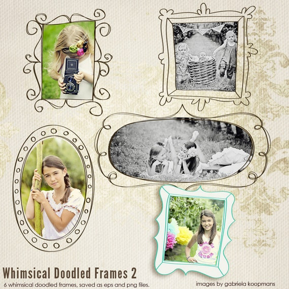 INSTANT DOWNLOAD - Doodled Frames 2 to showcase your photography
