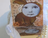 alice in wonderland printable  Rabbit  gift box instant download last minute egg hunt or candies