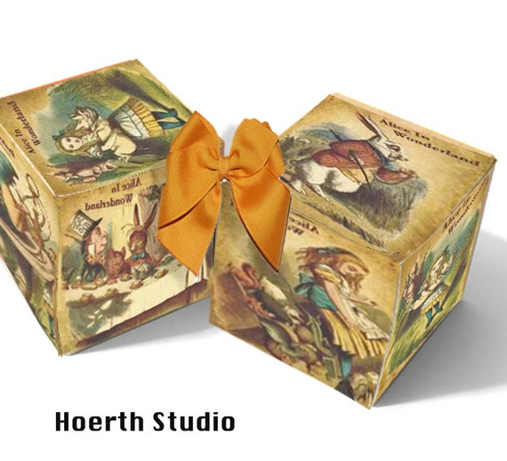 discount sale-Alice in Wonderland gift box Instant download