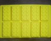 Silicone Lego style Ice Bricks Tray candy crayons soap mold Party favors