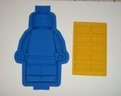 Silicone Lego Minifigure Cake Pan Brownie Jello Mold birthday party and ice BRICKS tray