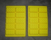 Set of 2 Lego style ice brick candy mold make gummies ice crayons soap Fast Shipping