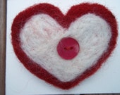 Heart Pin Felted Needle Felted Eco Friendly