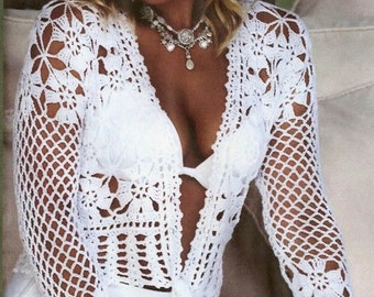 Hand Crocheted Flower Lace Cardigan - Made to Order
