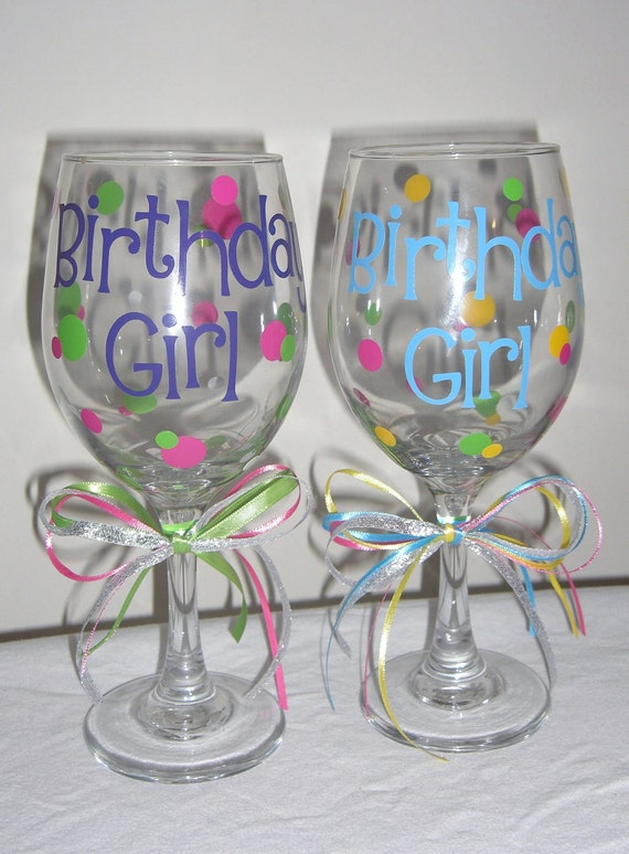 Items Similar To Personalized Birthday Wine Glasses 50